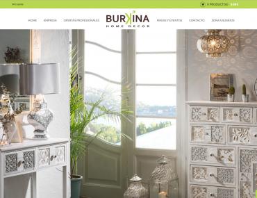 Burkinahomedecor - Diseño Web Tienda Privada + Web Presencial por Soulvi