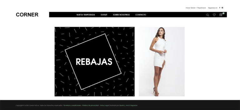 Corner Xativa - Diseño Web - Tienda Online